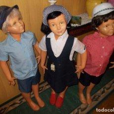 Muñeca española clasica: LOTE DE TRES MUÑECOS MANIQUI DE TIENDA ANTIGUA ,MIDEN SOBTRE 1 METRO SON DELOS AÑOS 60(LEER DESCRIPC. Lote 94500782
