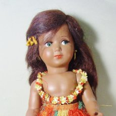 Muñeca española clasica: MUÑECA LINDA HAWAIANA EN CELULOIDE. ICSA. BUEN ESTADO. MARCA EN LA ESPALDA. 45 CM ALTURA. Lote 94854715