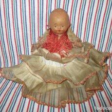 Muñeca española clasica: ANTIGUA MUÑECA TERRACOTA,AÑOS 40 - 50, MIDE UNOS 15 CM. Lote 94924943