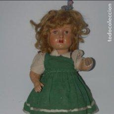 Muñeca española clasica: MUÑECA ANTIGUA AÑOS 60 DE CARTON PIEDRA MIRAR FOTOS . Lote 95271171