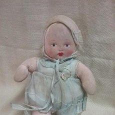 Muñeca española clasica: ANTIGUA MUÑECA DE TRAPO CARA PINTADA A MANO . Lote 96754255