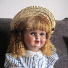 Muñeca española clasica: ANTIGUA MUÑECA MARICRIS CARTÓN PIEDRA 45 CM. Lote 96999747