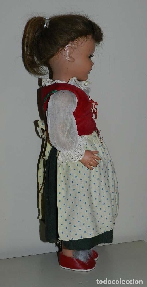 Muñeca española clasica: BONITA MUÑECA PICHUCA- AÑOS 50, OJO DURMIENTE, CONSERVA TODAS LAS PESTAÑAS, CABELLO NATURAL PEINADO - Foto 5 - 97665655