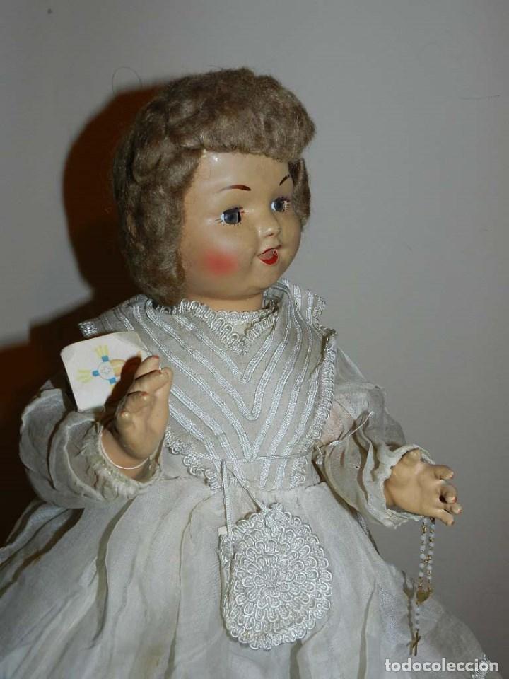 Muñeca española clasica: BONITA MUÑECA DE SANTIAGO MOLINA, FINALES DE LOS 40 - MUY SIMILAR A MARICELA- OJO DURMIENTE, CON - Foto 2 - 97668083