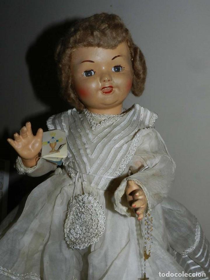 Muñeca española clasica: BONITA MUÑECA DE SANTIAGO MOLINA, FINALES DE LOS 40 - MUY SIMILAR A MARICELA- OJO DURMIENTE, CON - Foto 3 - 97668083