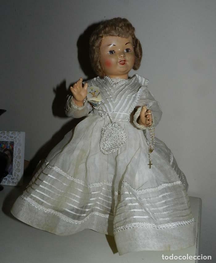Muñeca española clasica: BONITA MUÑECA DE SANTIAGO MOLINA, FINALES DE LOS 40 - MUY SIMILAR A MARICELA- OJO DURMIENTE, CON - Foto 4 - 97668083