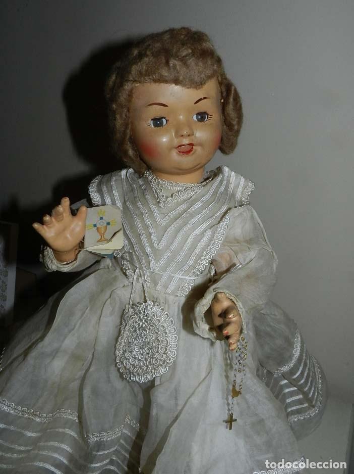 Muñeca española clasica: BONITA MUÑECA DE SANTIAGO MOLINA, FINALES DE LOS 40 - MUY SIMILAR A MARICELA- OJO DURMIENTE, CON - Foto 5 - 97668083