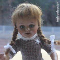 Muñeca española clasica: MUÑECA TERESIN, CARTON PIEDRA AÑOS 50, MARCADA. Lote 97770987