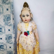 Muñeca española clasica: MUÑECA FALLERA NATI (MADRID), AÑOS 30. NUNCA JUGADA, CON SU CAJA ORIGINAL.. Lote 97788059