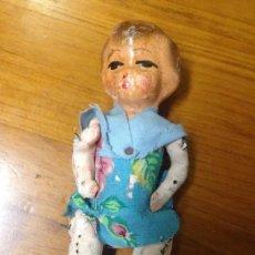 Muñeca española clasica: ANTIGUO MUÑECO JUGUETE FABRICACIÓN ARTESANAL MADERA CARTÓN PIEDRA. Lote 97797475