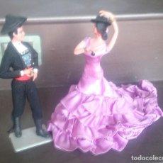 Muñeca española clasica: PAREJA DE MUÑECOS ANDALUCES DE MARÍN CHICLANA AÑOS 60. Lote 97920643
