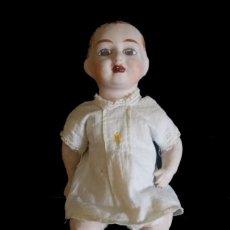 Muñeca española clasica: MUÑECA ANTIGUA CARTÓN AÑOS 40 GOLPE EN CABEZA VER FOTOS. Lote 205562336