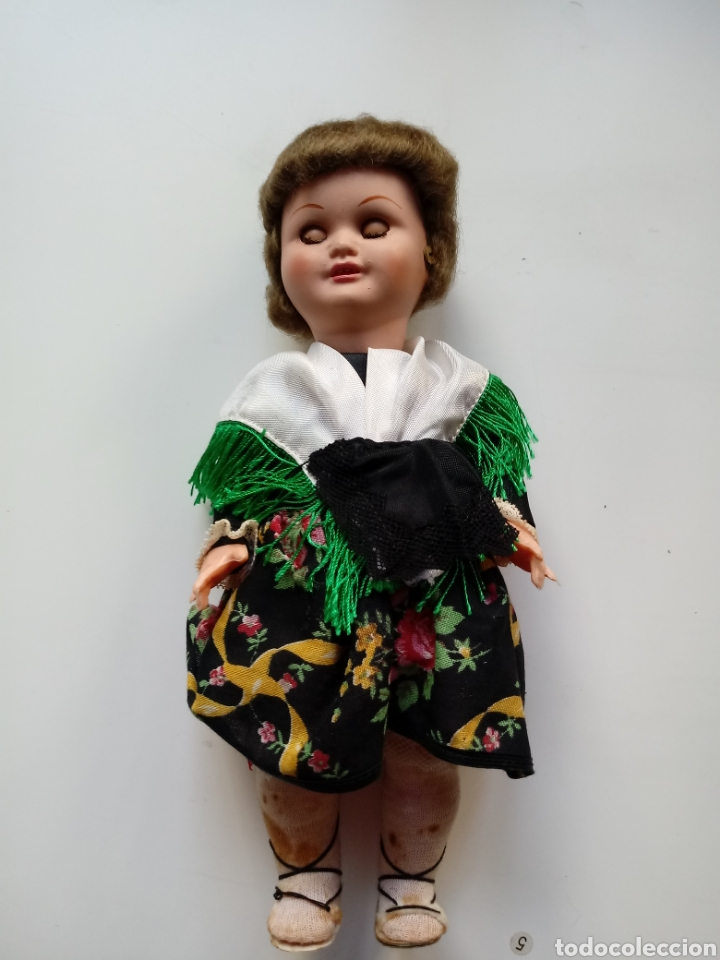 Muñeca española clasica: muñeca antigua de celuloide y plastico regional 26 cm - Foto 3 - 98144646