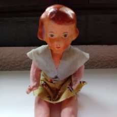 Muñeca española clasica: MUÑECA ANTIGUA DE CARTON PIEDRA 19 CM. Lote 98145296