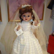 Muñeca española clasica: TERESIN, DE PRIMERA COMUNIÓN, MUÑECA ESPAÑOLA, DE CARTÓN PIEDRA, AÑOS 50. MARCADA. FABRICANTE DURA. Lote 98244667