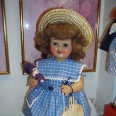Muñeca española clasica: MAGNIFICA MARICELA, MUÑECA ESPAÑOLA, CARTÓN PIEDRA, AÑOS 40. SANTIAGO MOLINA. ANDADORA. Lote 98245631