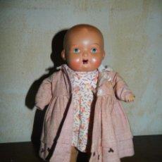 Muñeca española clasica: ANTIGUO MUÑECO BEBE TERRACOTA MARCADO SONIDO FUNCIONANDO. PRECIOSO. Lote 99181315