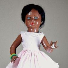 Muñeca española clasica: MUÑECA VIVIANA NEGRA AÑOS 40 INDUSTRIAS LEB. Lote 101018603