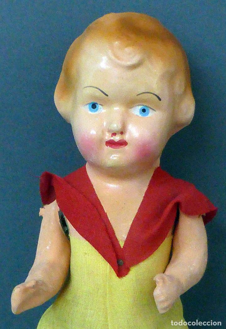 Muñeca española clasica: Pepona muñeca cartón piedra articulada ropa original años 30 - 40 33 cm alto - Foto 2 - 101996171