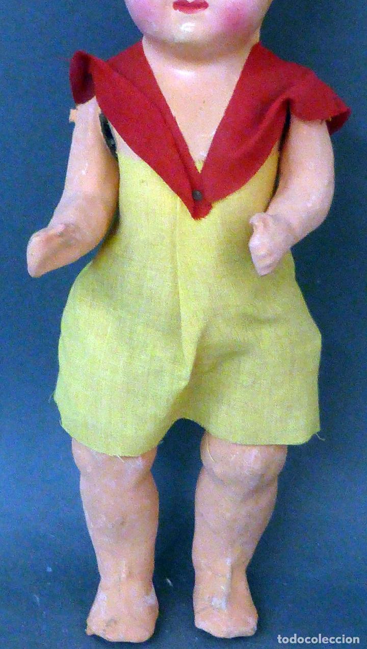 Muñeca española clasica: Pepona muñeca cartón piedra articulada ropa original años 30 - 40 33 cm alto - Foto 3 - 101996171