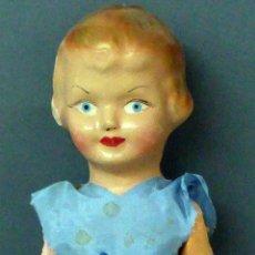 Muñeca española clasica: PEPONA GIGANTE MUÑECA CARTÓN PIEDRA ARTICULADA ROPA ORIGINAL LLORO AÑOS 30 - 40 51 CM ALTO. Lote 102003251