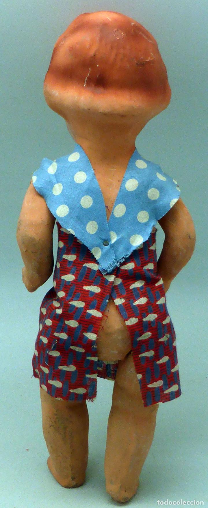 Muñeca española clasica: Pepona muñeca cartón piedra articulada ropa original años 30 - 40 32 cm alto - Foto 3 - 102609831