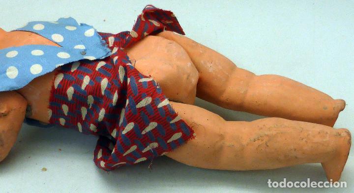 Muñeca española clasica: Pepona muñeca cartón piedra articulada ropa original años 30 - 40 32 cm alto - Foto 5 - 102609831