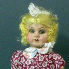 Muñeca española clasica: MUÑECA POPULAR TRAPO ROPA ORIGINAL AÑOS 20 - 30 26 CM ALTO. Lote 102701147