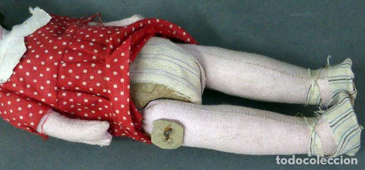 Muñeca española clasica: Muñeca popular trapo ropa original zapatos años 20 - 30 26 cm alto - Foto 5 - 102701351