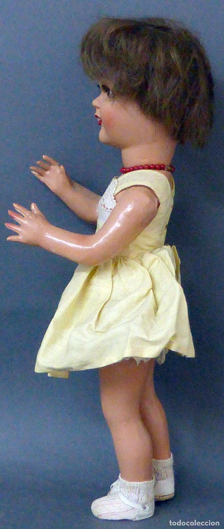 Muñeca española clasica: Dina muñeca Famosa cabeza celuloide cuerpo cartón piedra ojo durmiente años 50 40 cm alto - Foto 3 - 102703663