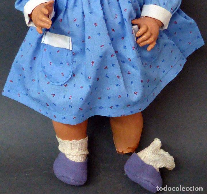 Muñeca española clasica: Muñeca celuloide ICSA marca espalda ropa original zapatos años 40 35 cm - Foto 5 - 102707871