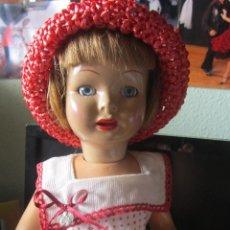 Muñeca española clasica: ANTIGUA MUÑECA LOLITA O PICHUCA DE 45 CM CARTÓN PIEDRA. Lote 103127591