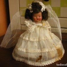 Muñeca española clasica: MUÑECA DE TERRACOTA COMULGANTE. TODO DE ORIGEN. 15 CM DE ALTURA.. Lote 103503863