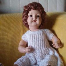 Muñeca española clasica: HERMOSA MUÑECA DE COMPOSICIÓN CON OJOS DURMIENTES, ARTICULADA. MIDE 62 CMS. AÑOS 40. Lote 103708067