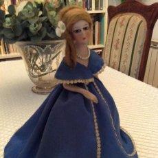 Muñeca española clasica: MUÑECA LÁMPARA DE PORCELANA Y METAL. 32CM. AÑOS 20 .. Lote 103760039