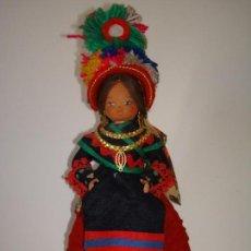 Muñeca española clasica: ANTIGUA MUÑECA REGIONAL, MONTEHERMOSO,CÁCERES,BEIBI.VINTAGE,AÑOS 50.RETRO.. Lote 103833747
