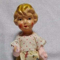 Muñeca española clasica: PRECIOSA MUÑECA CARTÓN PIEDRA PEPONA , AÑOS 40. Lote 159350470