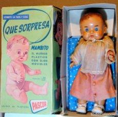 Muñeca española clasica: MAMBITO MONAGUILLO DE `PASCOR´ AÑOS 50 EN CAJA. Lote 106534975