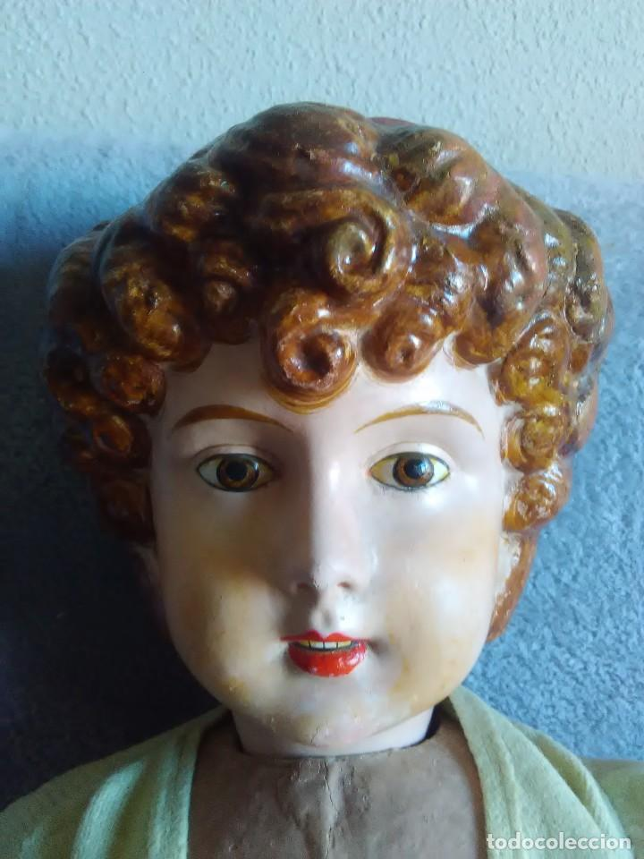 Muñeca española clasica: GRAN MUÑECA ISABELINA DE 1875 DE 85 CTMS DE ALTURA - Foto 8 - 107384899