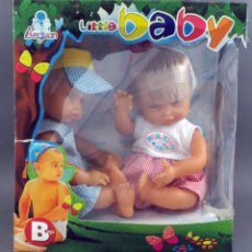 Muñeca española clasica: MELLIZOS BERJUAN LITTLE BABY B TOYS MUÑECOS NUEVOS EN CAJA. Lote 107905911
