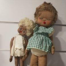 Muñeca española clasica: ANTIGUAS MUÑECAS DE FIELTRO AÑOS 50. Lote 107921575
