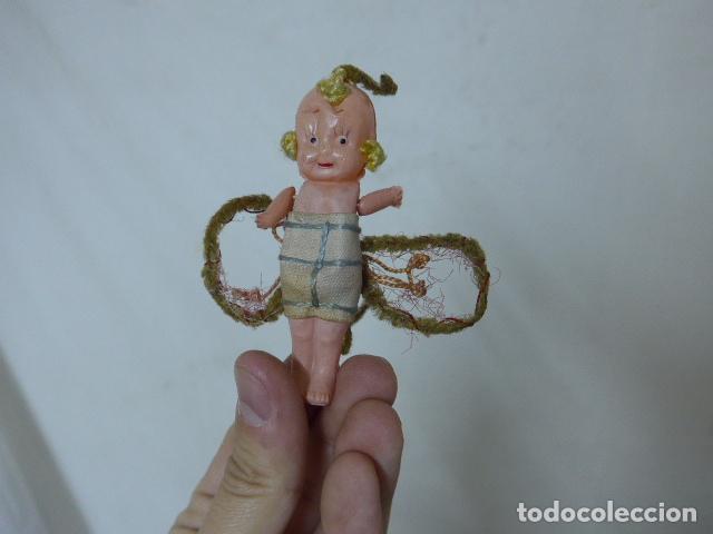 Muñeca española clasica: Lote 2 antigua pequeña muñeca, uno terracota y otro celuloide. Muñeco antiguo. - Foto 4 - 108541579