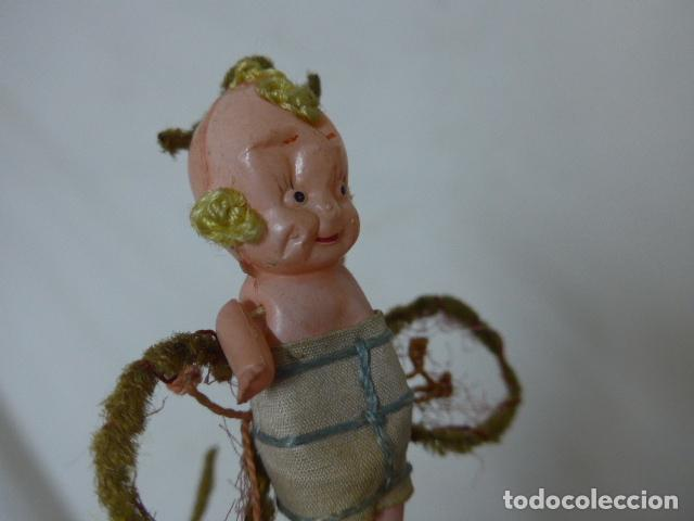 Muñeca española clasica: Lote 2 antigua pequeña muñeca, uno terracota y otro celuloide. Muñeco antiguo. - Foto 5 - 108541579