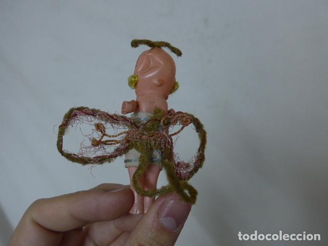 Muñeca española clasica: Lote 2 antigua pequeña muñeca, uno terracota y otro celuloide. Muñeco antiguo. - Foto 7 - 108541579