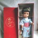 Muñeca española clasica: MUÑECA LINDA GEISHA DE ALBA, CON CAJA DE ORIGÉN, NUEVA A ESTRENAR NO JUGADA RESTO TIENDA AÑOS 50. Lote 108834091