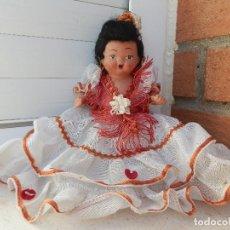 Muñeca española clasica: ANTIGUA MUÑECA DE TERRACOTA AÑOS 40-50 MADE IN SAPIN.. Lote 108872559
