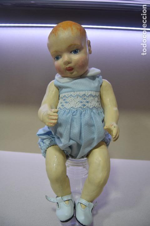 Muñeca española clasica: muñeca pepon de cartón - Foto 2 - 109086371
