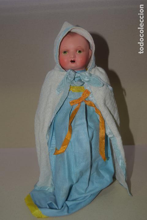 Muñeca española clasica: muñeca bebe original posible años 40 - Foto 2 - 109093299