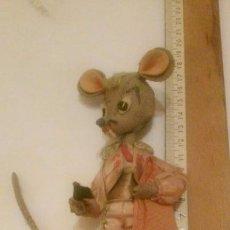 Muñeca española clasica: FIGURA RATON TORERO DE TRAPO (MUY ANTIGUO). Lote 109183175