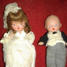 Muñeca española clasica: ANTIGUA PAREJA DE MUÑECOS EN TERRACOTA. Lote 109194906